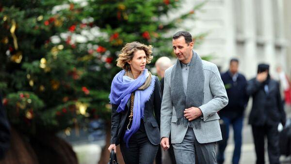 Prezydent Syrii Baszar Al-asad i jego żona Asma w Paryżu - Sputnik Polska