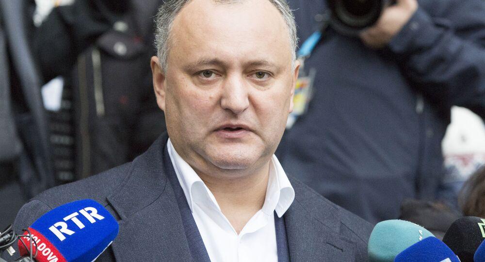 Kandydat na prezydenta Mołdawii Igor Dodon