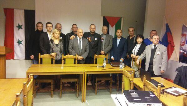 """Konferencja pod tytułem """"Stop kłamstwom na temat Syrii"""" odbyła się w Poznaniu w dniu 12 listopada 2016 r. - Sputnik Polska"""