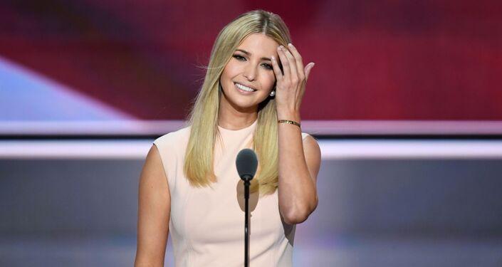 Córka prezydenta USA Donalda Trumpa Ivanka Trump.