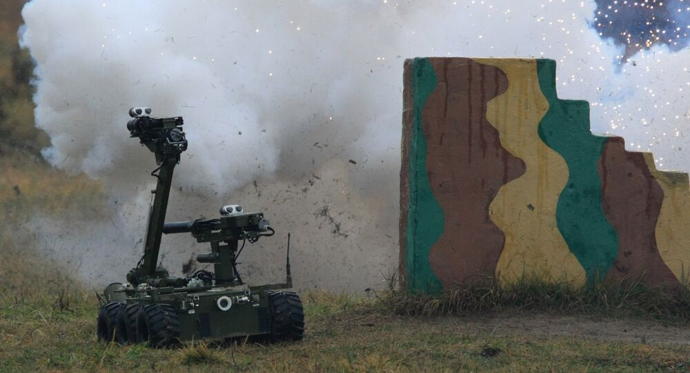 Mobilny robot policyjny, obrzeża Moskwy