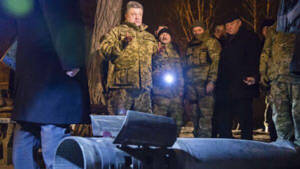 Prezydent Ukrainy Petro Poroszenko z wizytą w Kramatorsku - Sputnik Polska