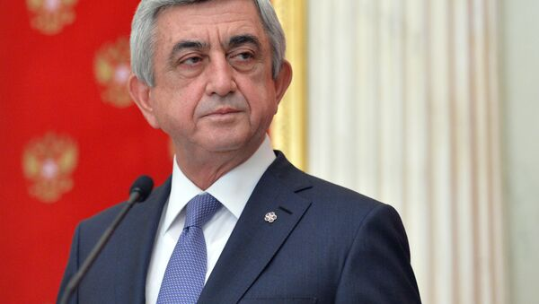 Prezydent Armenii Serż Sarkisjan - Sputnik Polska