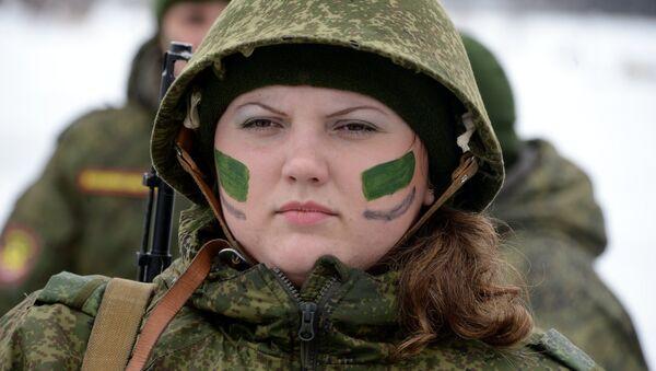 Ogólnorosyjski konkurs dla kobiet w armii. - Sputnik Polska