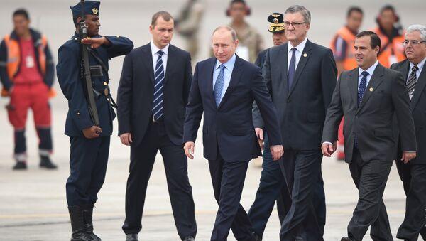 Prezydent Rosji Władimir Putin na szczycie APEC w Peru - Sputnik Polska