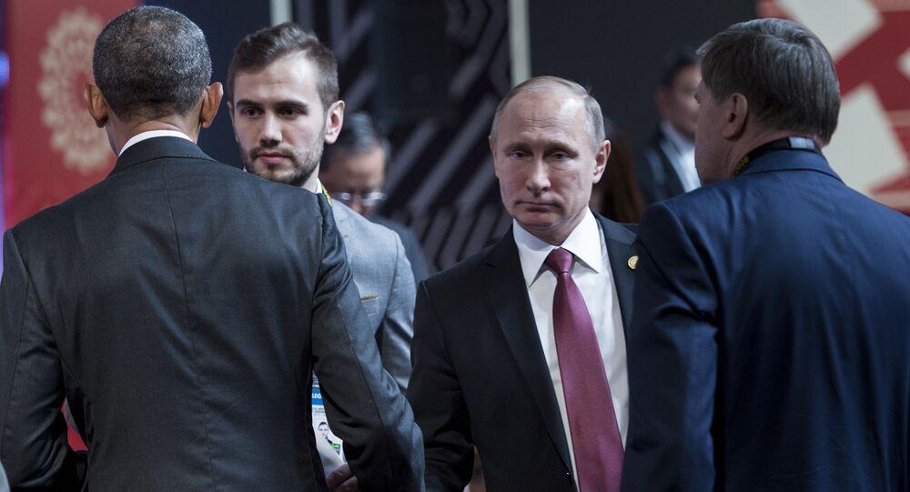 Rozmowa prezydenta USA Baracka Obamy i prezydenta Rosji Władimira Putina podczas szczytu APEC w Peru