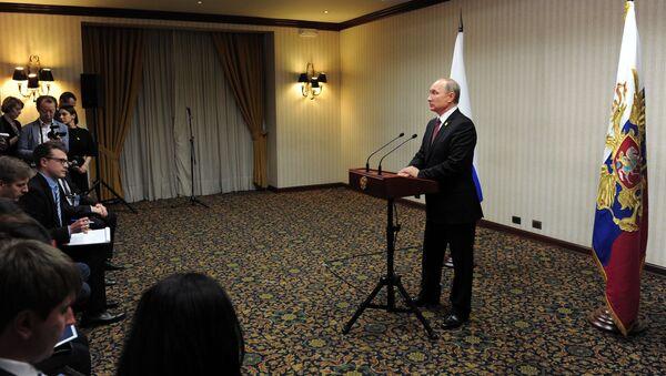 Prezydent Rosji Władimir Putin podczas szczytu APEC w Peru - Sputnik Polska