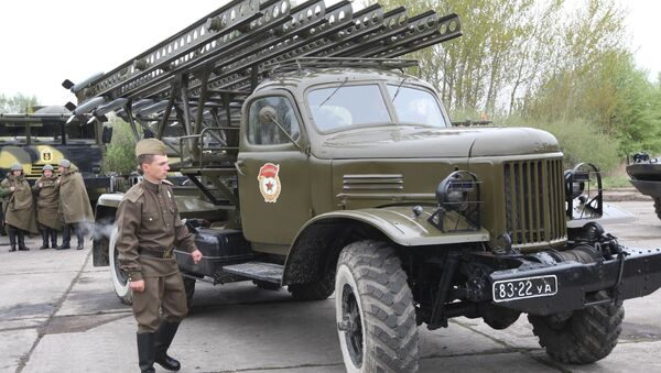 Radziecka wyrzutnia rakietowa BM-8 Katiusza - Sputnik Polska