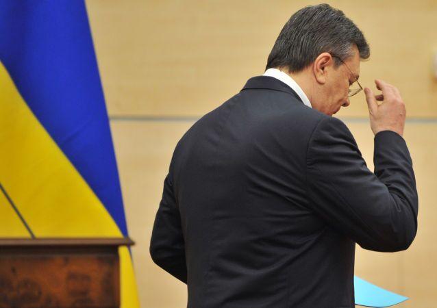 Wiktor Janukowycz po konferencji prasowej w Rostowie nad Donem
