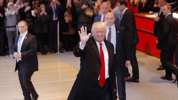Prezydent elekt USA Donald Trump w Nowym Jorku - Sputnik Polska