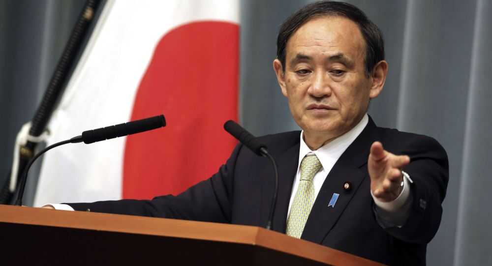Sekretarz generalny japońskiego rządu Yoshihide Suga
