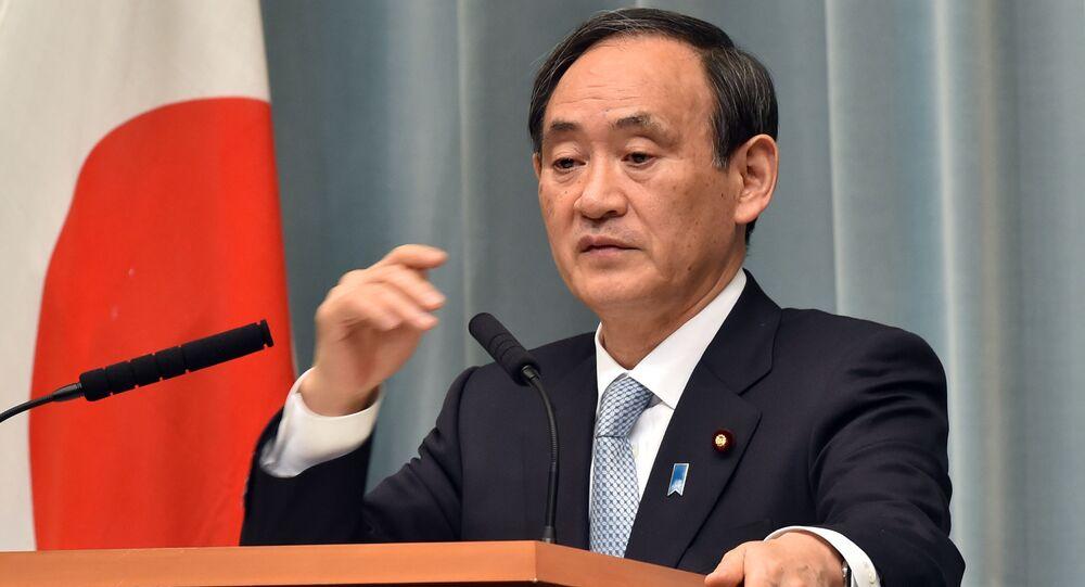 Sekretarz generalny japońskiego rządu Suga Yoshihide