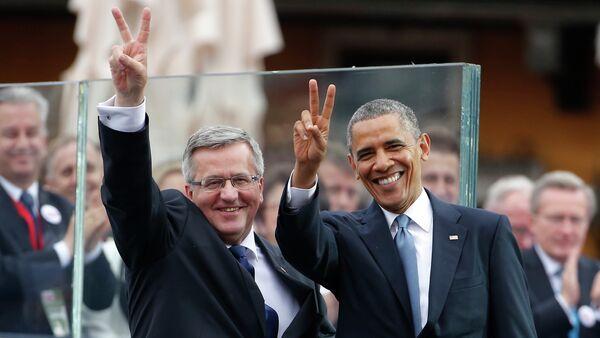 Prezydent USA Barack Obama i eksprezydent Polski Bronisław Komorowski - Sputnik Polska