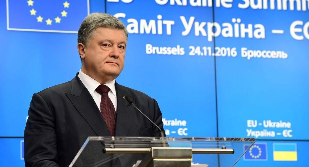 Prezydent Ukrainy Petro Poroszenko na szczycie Ukraina-UE w Brukseli