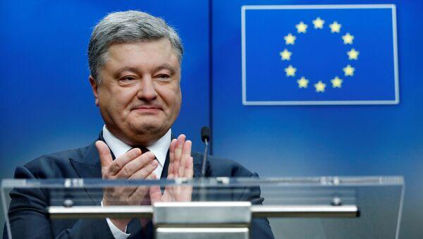 Prezydent Ukrainy Petro Poroszenko na szczycie UE-Ukraina w Brukseli - Sputnik Polska