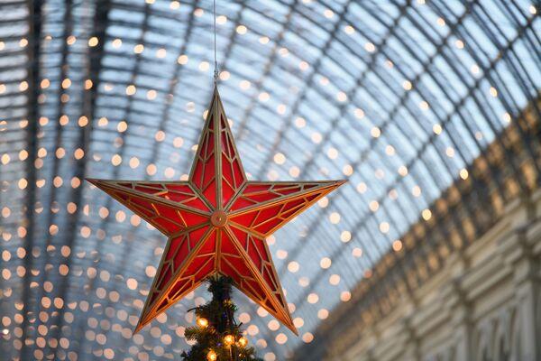 Świąteczny wystrój GUM-u - Sputnik Polska