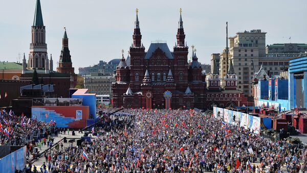 Na Placu Czerwonym podczas uroczystości 9 maja - Sputnik Polska