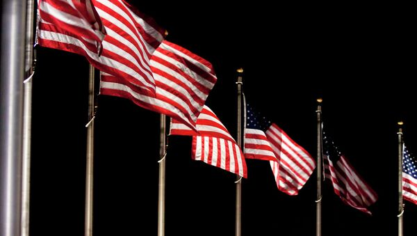 Amerykańska flaga - Sputnik Polska