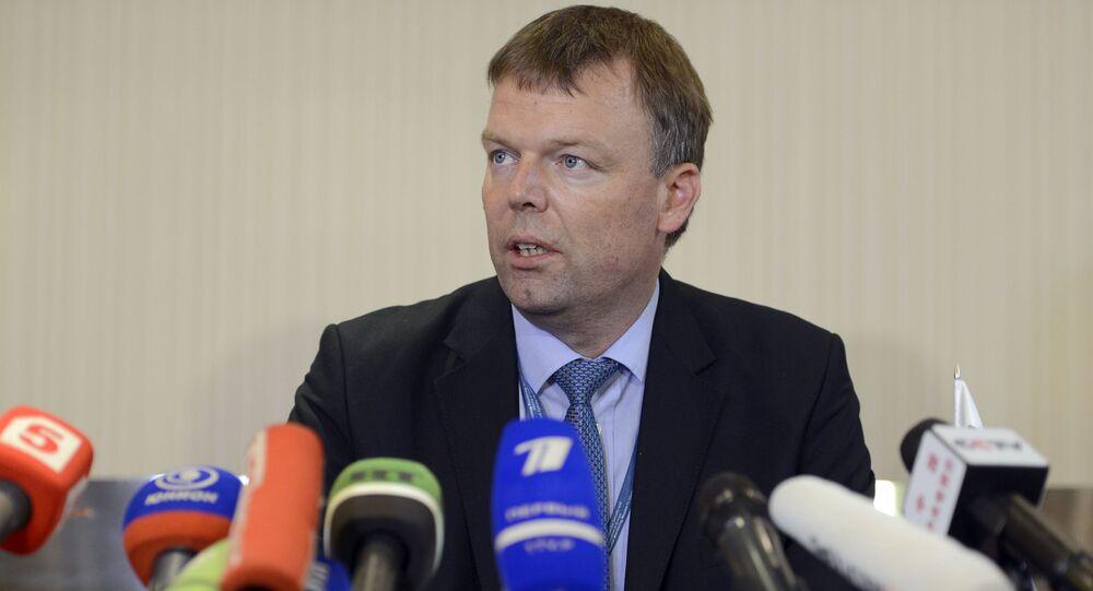 Zastępca szefa specjalnej misji obserwacyjnej na Ukrainie Alexander Hug