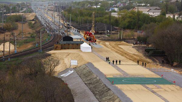 Budowa drogi kolejowej w obwodzie woroneskim - Sputnik Polska