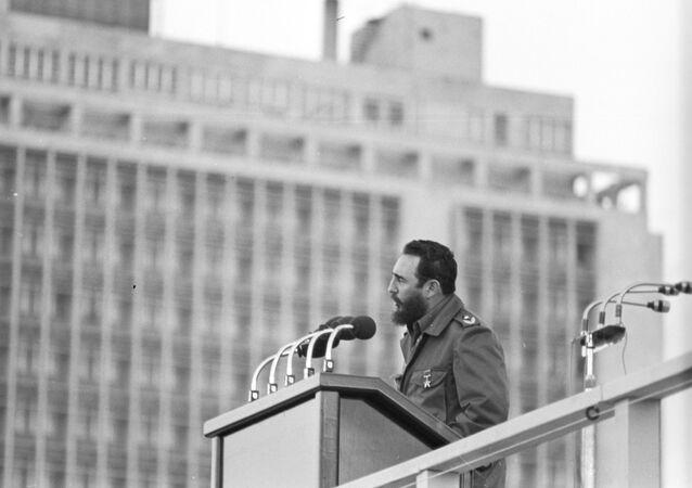 Fidel Castro, przywódca rewolucji kubańskiej