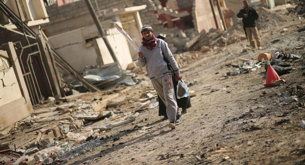 Zburzone domy w Mosulu