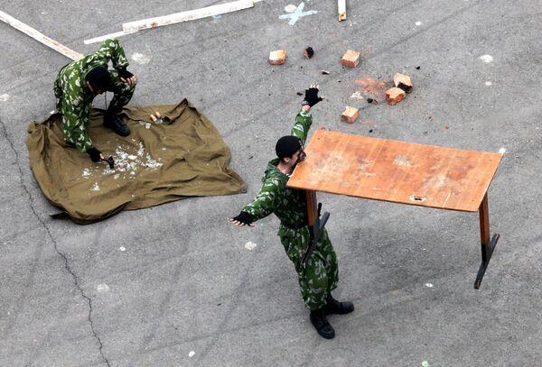 Występy pokazowe żołnierzy piechoty morskiej we Władywostoku - Sputnik Polska
