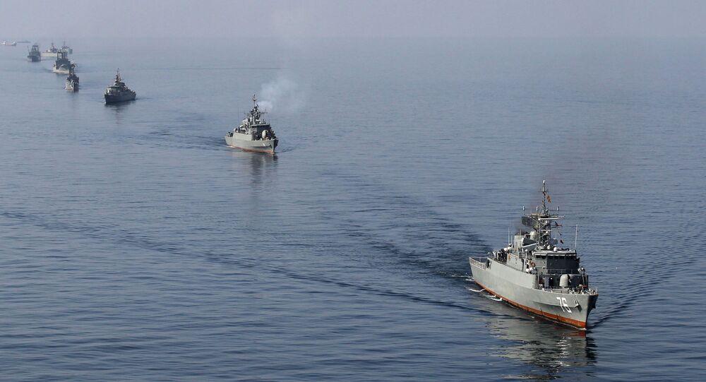 Irańska marynarka wojenna w cieśninie Ormuz