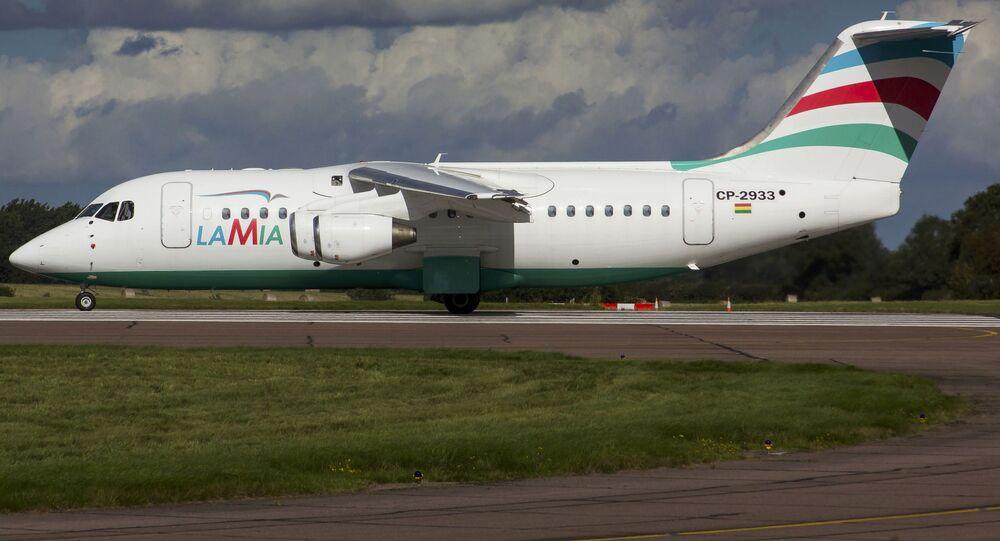Samolot Avro RJ85 linii lotniczych Lamia