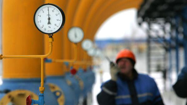 Stacja gazowa w mieście Nieśwież na Białorusi - Sputnik Polska