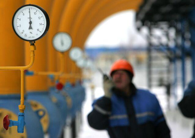 Stacja gazowa w mieście Nieśwież na Białorusi