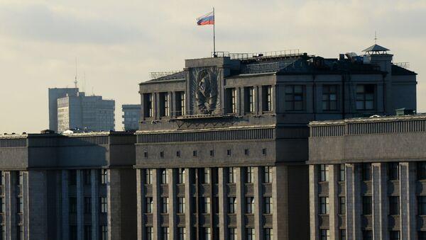Budynek Dumy Państwowej Federacji Rosyjskiej w Moskwie - Sputnik Polska