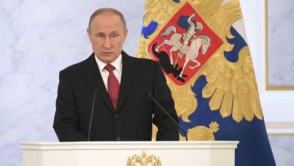 Orędzie Prezydenta Rosji Władimira Putina do Zgromadzenia Federalnego - Sputnik Polska