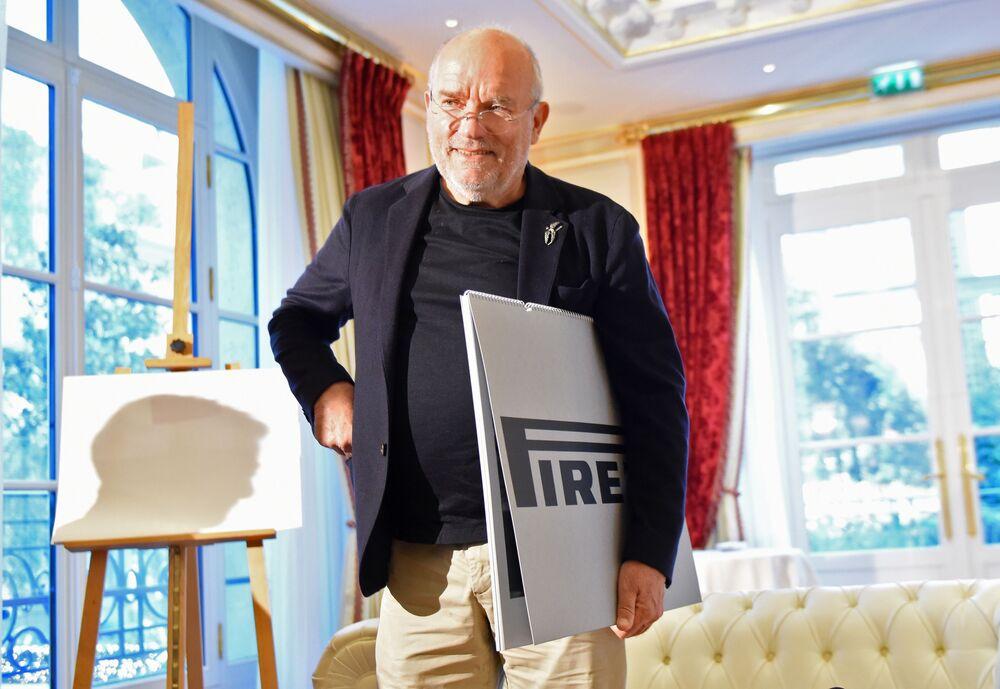 Fotograf Peter Lindbergh przed prezentacją kalendarza