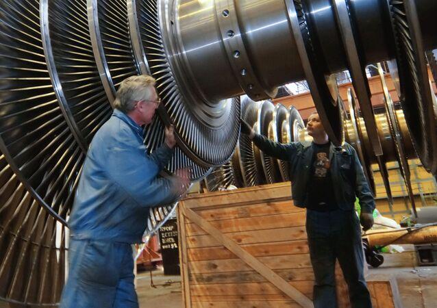 Proces produkcji turbiny w fabryce Siłowyje Maszyny