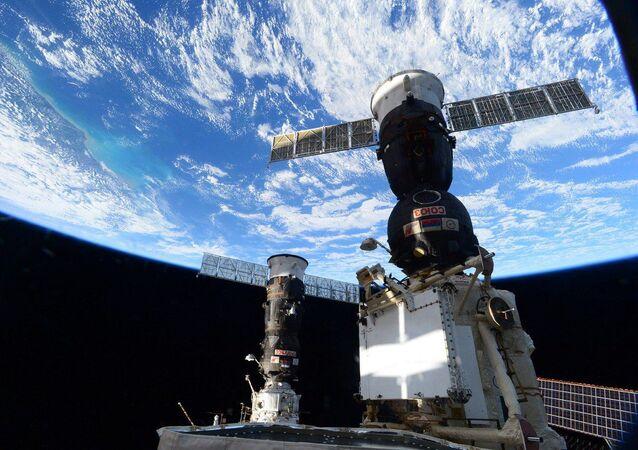 Zdjęcie zrobione z pokładu MSK przez astronautę NASA, inżynier pokładową Kate Rubins
