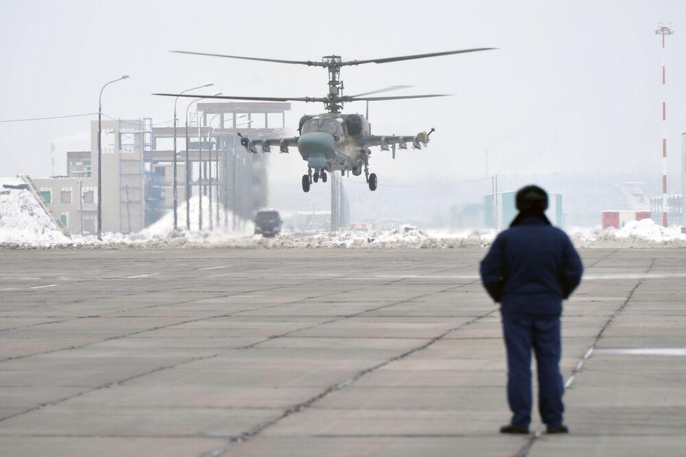 Loty testowe śmigłowca Ka-52 Aligator