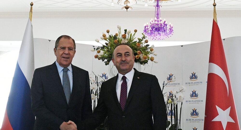 Minister spraw zagranicznych Siergiej Ławrow z wizytą w Turcji