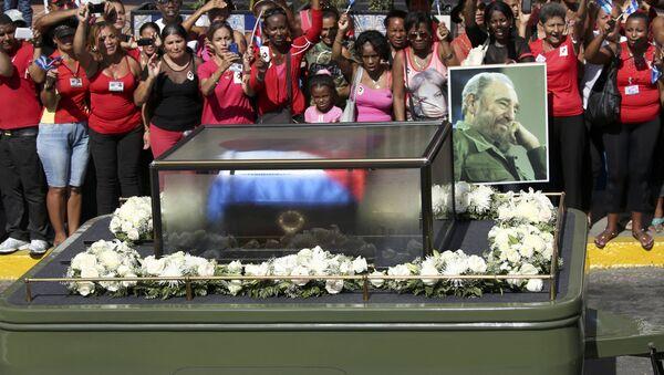 Uroczystości pogrzebowe Fidela Castro, Santiago de Cuba, 3 grudnia 2016 - Sputnik Polska