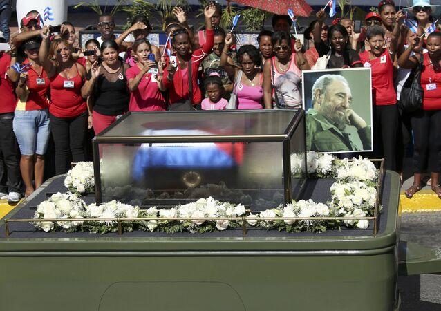 Uroczystości pogrzebowe Fidela Castro, Santiago de Cuba, 3 grudnia 2016
