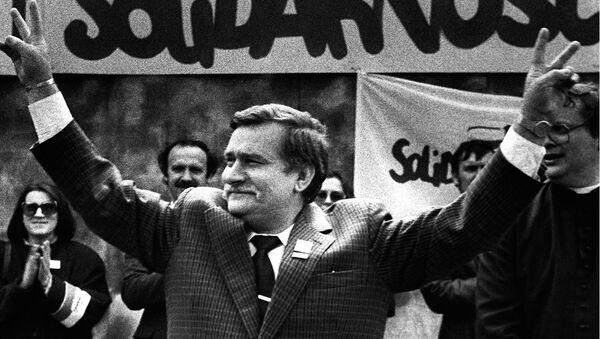 Lech Wałęsa, 7 maja 1989, zdjęcie z archiwum - Sputnik Polska