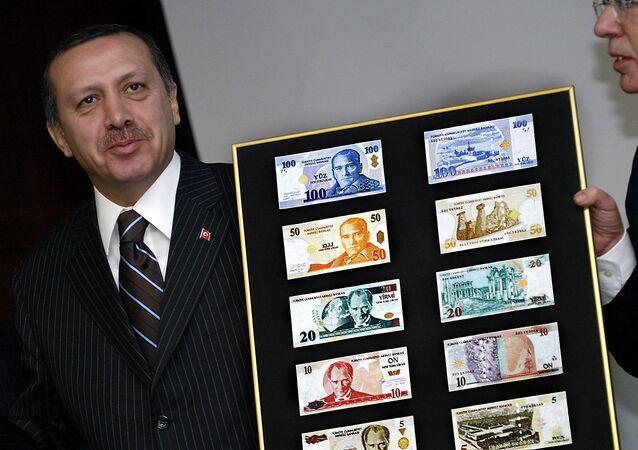 Recep Tayyip Erdogan i liry tureckie