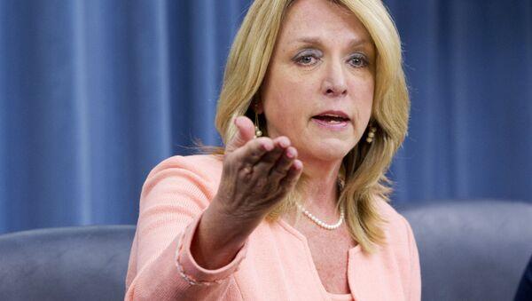 Sekretarz Sił Powietrznych USA Deborah Lee James - Sputnik Polska