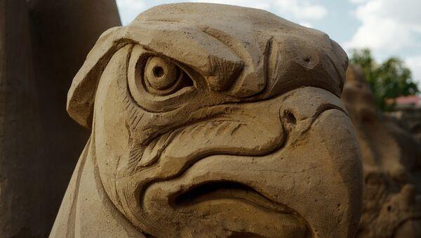 Jastrząb. Festiwal rzeźb piaskowych w Petersburgu - Sputnik Polska