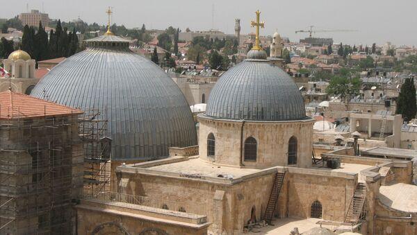 Grób Jezusa Chrystusa w Bazylice Grobu Świętego w Jerozolimie jest tym samym grobowcem, który w IV wieku odnalazła Helena, matka cesarza Konstantyna I Wielkiego - Sputnik Polska