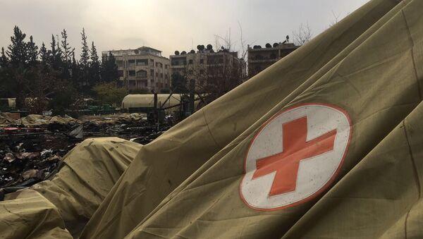 Rosyjski szpital polowy w Aleppo po ostrzale przez terrorystów - Sputnik Polska