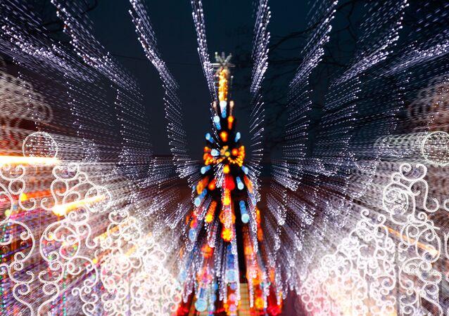 Jarmark bożonarodzeniowy w Petersburgu