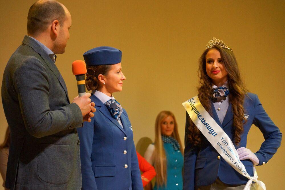 """Pierwsze miejsce w kategorii """"Lotnictwo cywilne"""" zajęła 26-letnia Anna Gurina z Krasnojarska, która pracuje dla linii lotniczych Nordstar."""