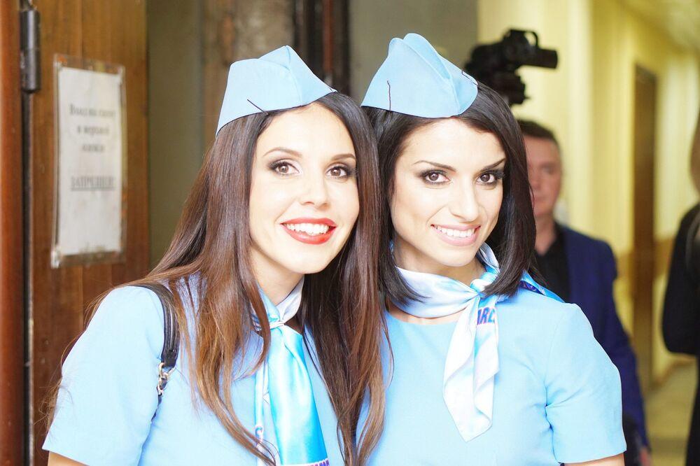 """W Moskwie odbył się trzeci konkurs narodowy """"TOP najpiękniejszych stewardess Rosji 2016""""."""