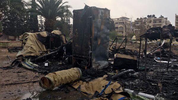 Ostrzał szpitala mobilnego rosyjskiego Ministerstwa Obrony w Aleppo - Sputnik Polska